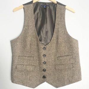 GAP | Wool Chevron Tan Vest